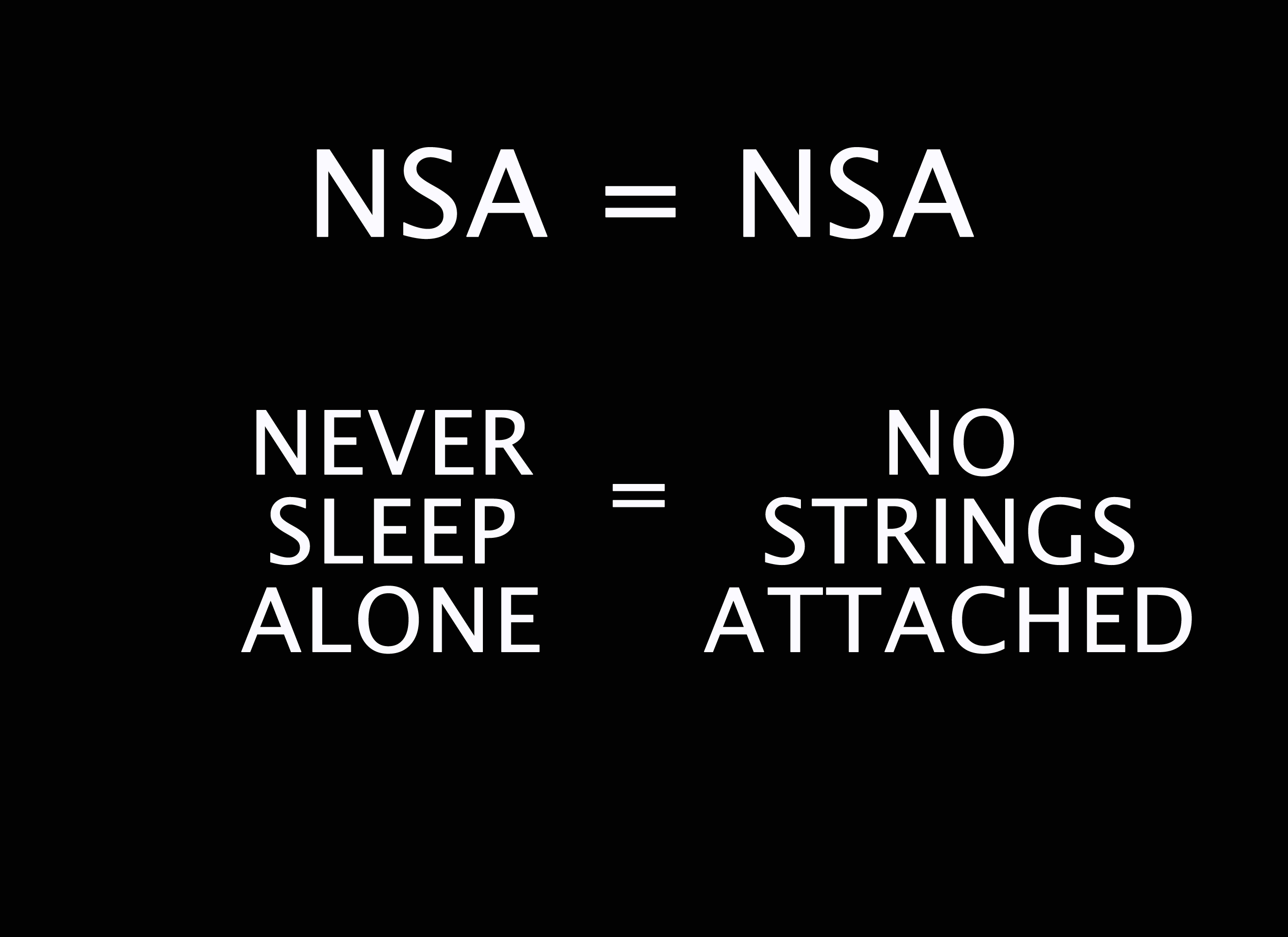 no strings attached local nsa Sydney