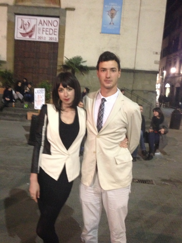 "Me and the mayor of Fiesole's son. This is an NSA Fashion ""DO"""