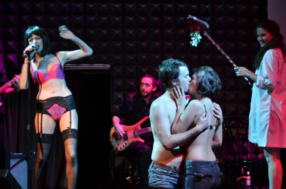 Find someone to kiss under the mistletoe at NSA this Saturday. Joe's Pub, NYC